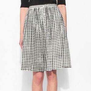MINKPINK Gingham Midi Skirt Black & White Small